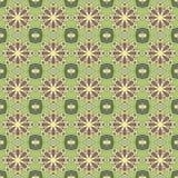 Sömlösa modeller för grön universell vektor som belägger med tegel geometriska prydnadar Arkivbilder