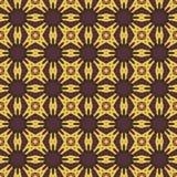 Sömlösa modeller för gul universell vektor som belägger med tegel geometriska prydnadar Arkivfoton