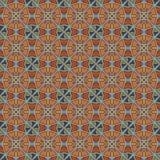 Sömlösa modeller för orange universell vektor som belägger med tegel geometriska prydnadar Royaltyfria Bilder