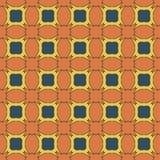 Sömlösa modeller för orange universell vektor som belägger med tegel geometriska prydnadar Royaltyfria Foton