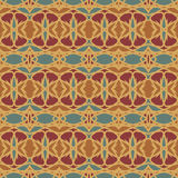 Sömlösa modeller för orange universell vektor som belägger med tegel geometriska prydnadar Arkivfoto