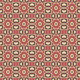 Sömlösa modeller för röd universell vektor som belägger med tegel geometriska prydnadar Royaltyfri Bild