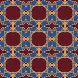 Sömlösa modeller för röd universell vektor som belägger med tegel geometriska prydnadar Arkivfoton