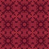 Sömlösa modeller för röd universell vektor som belägger med tegel geometriska prydnadar stock illustrationer