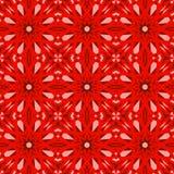 Sömlösa modeller för röd vektor som belägger med tegel geometriska prydnadar vektor illustrationer