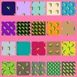 Sömlösa modeller för vektor med gula blommor royaltyfri illustrationer