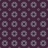 Sömlösa modeller för violett universell vektor som belägger med tegel geometriska prydnadar Arkivfoton