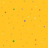 Sömlösa modeller med stjärnor, cirklar, cirklar Färgrik hipster Royaltyfri Fotografi