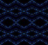 Sömlösa modellsvartblått Arkivfoton