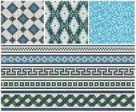 Sömlösa mosaikfriars och dekorer Royaltyfri Foto