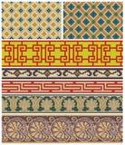Sömlösa mosaikfriars och dekorer Royaltyfri Fotografi