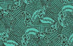 Sömlösa paisley med himmelbandannabakgrund royaltyfri illustrationer