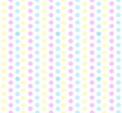 Sömlösa pastellfärgade prickar Royaltyfri Fotografi