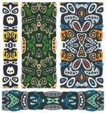 Sömlösa psykedeliska prydnader. stock illustrationer