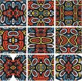 Sömlösa psykedeliska prydnader. royaltyfri illustrationer