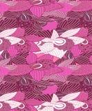 Sömlösa purpurfärgade & rosa orkidér mönstrar sömlöst royaltyfri illustrationer