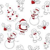 Sömlösa rött och vit vektor illustrationer