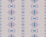 Sömlösa retro lilor för prydnadgrå färgblått stock illustrationer