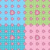 Sömlösa Rose Pattern Arkivfoto