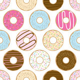 Sömlösa söta donuts Royaltyfri Bild