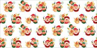 Sömlösa Santa Claus Arkivbilder