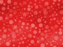 Sömlösa snöflingor mönstrar olikt stort och litet format på röd lutningbakgrund arkivfoton
