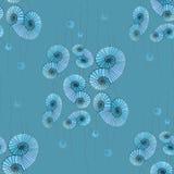 Sömlösa spiral och cirklar mönstrar turkosblåa grå färger Royaltyfria Bilder