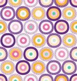 Sömlösa stilfulla färgrika abstrakta fläckar & Dots Pattern Surface Design royaltyfri illustrationer