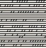 Sömlösa svartvita linjer modell för vektor Arkivbild