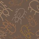 Sömlösa Tick Pattern Arkivbild