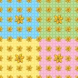 Sömlösa Tiger Lily Pattern Arkivbilder