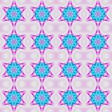 Sömlösa vanliga lilor för violet för turkosblått för stjärnamodell Fotografering för Bildbyråer