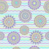 Sömlösa vektormodeller för Mandala Arkivbilder