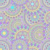 Sömlösa vektormodeller för Mandala Arkivbild