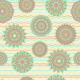Sömlösa vektormodeller för Mandala Royaltyfria Bilder