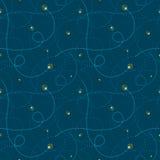 Sömlöst abstrakt begrepp för eldflugor Royaltyfri Bild