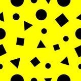 Sömlöst abstrakt begrepp för fyrkant-, triangel- och cirkelgeometrimodell stock illustrationer