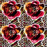Sömlöst abstrakt löst exotiskt tropiskt världstryck vektor illustrationer