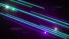 Sömlöst abstrakt rörelseljus som skiner gristra att glöda och att skjuta, strålar beståndsdelen i begrepp för disko- eller nattkl