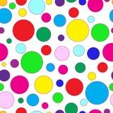 Sömlöst av modell för färgcirklar Arkivfoto