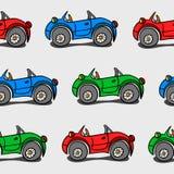 Sömlöst behandla som ett barn bakgrund med bilar vektor illustrationer