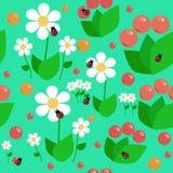 Sömlöst blom- behandla som ett barn modellen Royaltyfri Bild