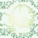 Sömlöst blomma- och fjärilskort Royaltyfri Foto