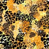 Sömlöst brushpen textur för grunge för textilleopardmodellen royaltyfri illustrationer