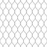 Sömlöst bundit förtjäna staket Enkel svart vektorillustration på vit bakgrund vektor illustrationer