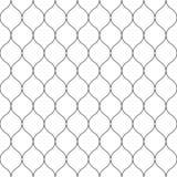 Sömlöst bundit förtjäna staket Enkel svart vektorillustration på vit bakgrund royaltyfri illustrationer