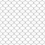 Sömlöst bundit förtjäna staket Enkel svart vektorillustration på vit bakgrund stock illustrationer