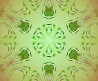 Sömlöst centrerat delikat runt rött för prydnadgräsplan royaltyfri illustrationer