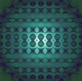 Sömlöst cirkelmodellmörker - grönt centrerat skinande för turkos vektor illustrationer