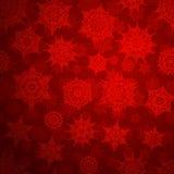 Sömlöst djupt - röd julmodell 10 eps Arkivbilder